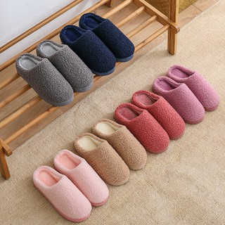Women's Mens Fashion Couples Warm Non-slip Floor Home Slippers Indoor Shoes