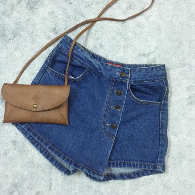 Short jean giả váy cực chất