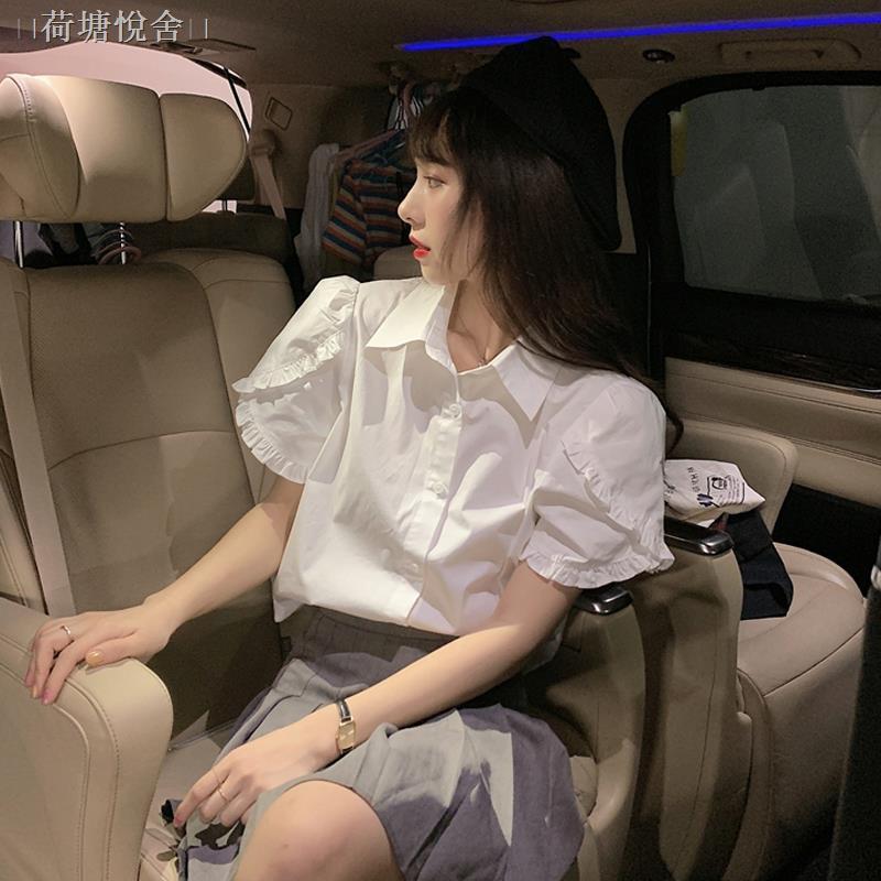 Bộ Áo Sơ Mi Ngắn Tay + Chân Váy Xếp Li Xinh Xắn Dành Cho Nữ