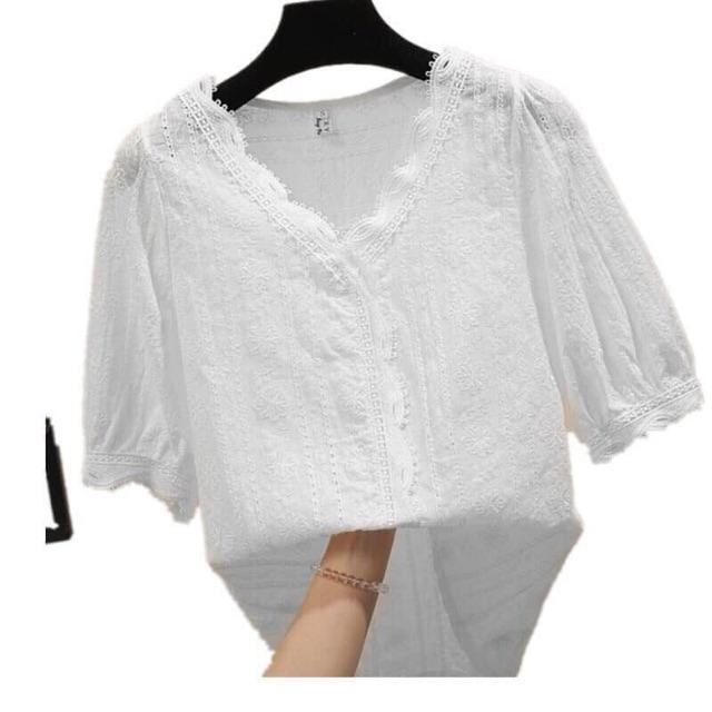 Áo sơmi quảng châu , chất dẹp mát , dễ phối đồ , quần sọc chân váy hay quần jean điều ok , mua này mặc rất mát , bao chấ