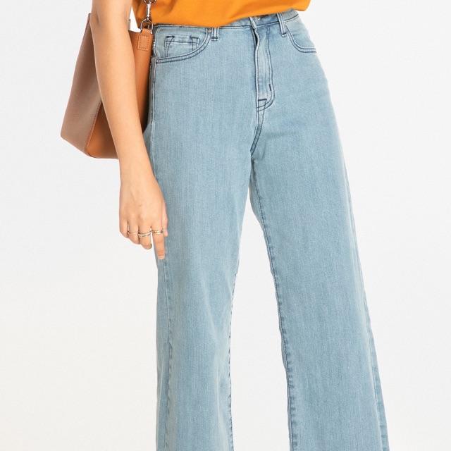 Thanh lý quần jeans ống rộng HNOSS - Size 28