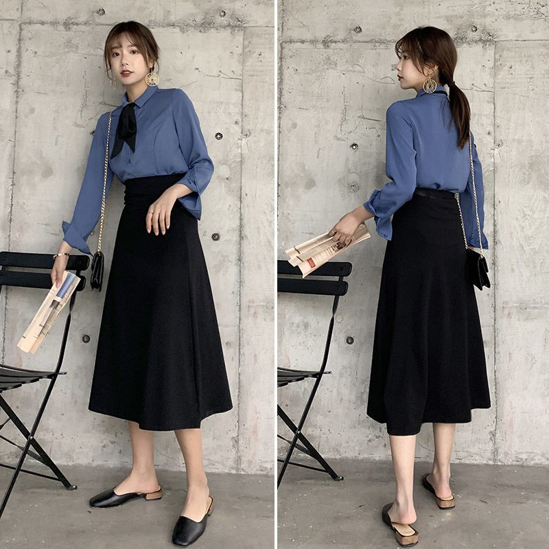 Chân Váy Dài Chữ A Thời Trang Xuân Thu 2020 Cho Nữ