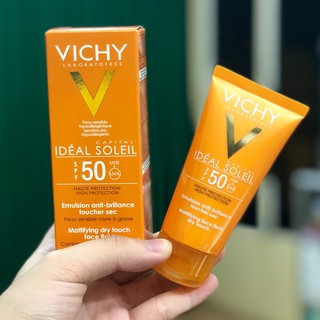 Kem Chống Nắng Vichy SPF 50 Ideal Soleil Emulsion Anti-brillance 50ml