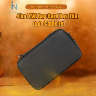 Norton 4 in 1 EVA Hard Bag Case Card Box Film Data Cable Fit for Nintend NEW 3DSXL