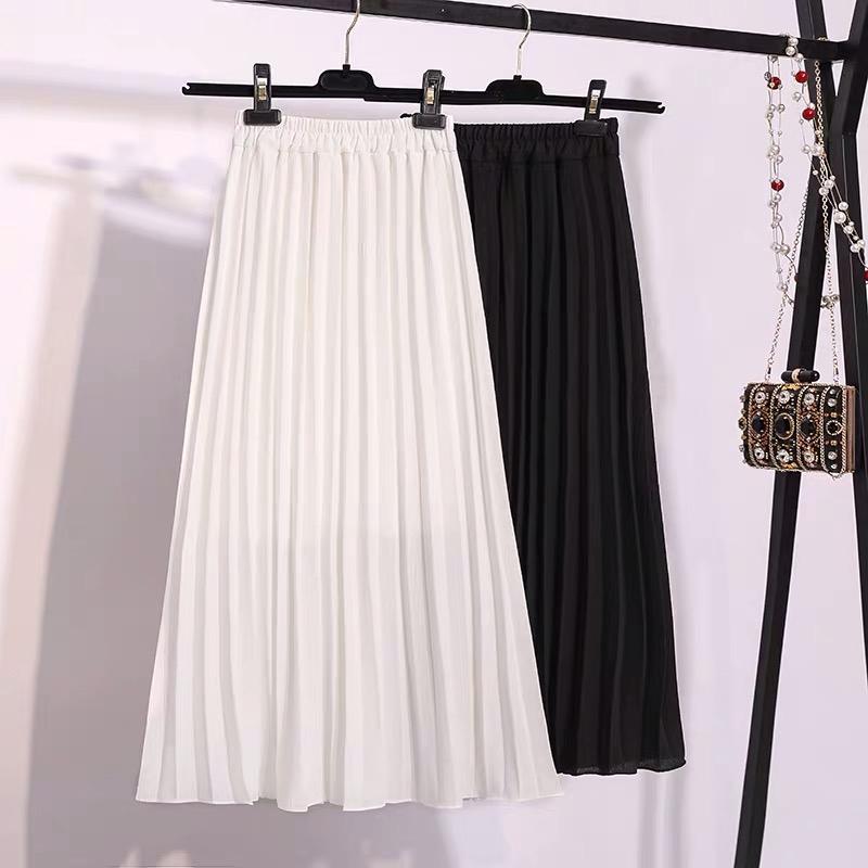 Chân Váy Xếp Ly Dáng Dài Thời Trang 2020 Xinh Xắn Cho Nữ