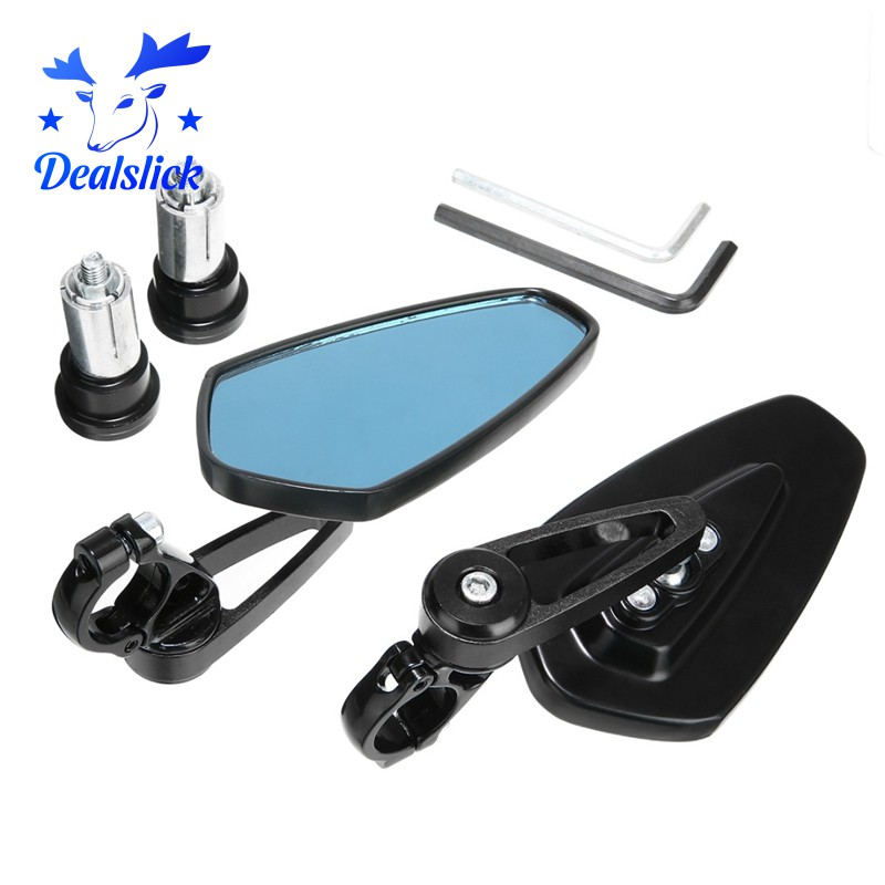 1 Pair 7/8 Inch 22Mm Motorcycle Rearview Handlebar End Side Handle Mirror