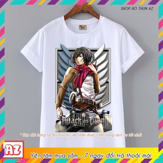 Review (SALE) Áo thun Attack on Titan Mikasa Ackerman - Mẫu mới Cotton Thái M2606
