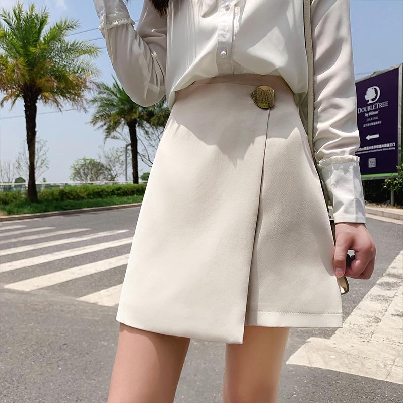 Chân Váy Chữ A Lưng Cao Màu Xanh Lá Thời Trang Mùa Hè Năng Động