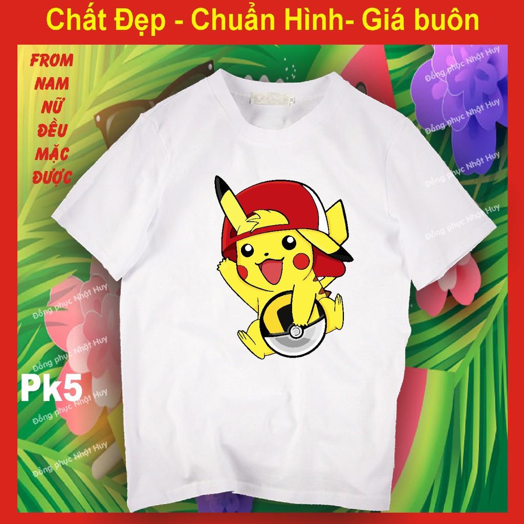áo thun pikachu 5 chất đẹp bao đổi trả