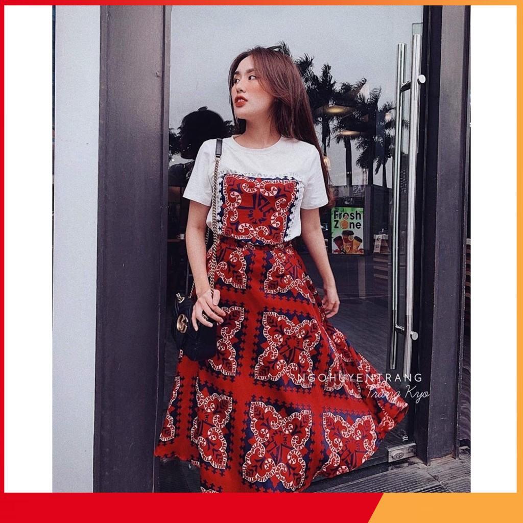 ✔Đồ Đẹp Giá Rẻ ❤Set Áo Mix Chân Váy Đỏ Hot Hit ✔Kèm hình thật