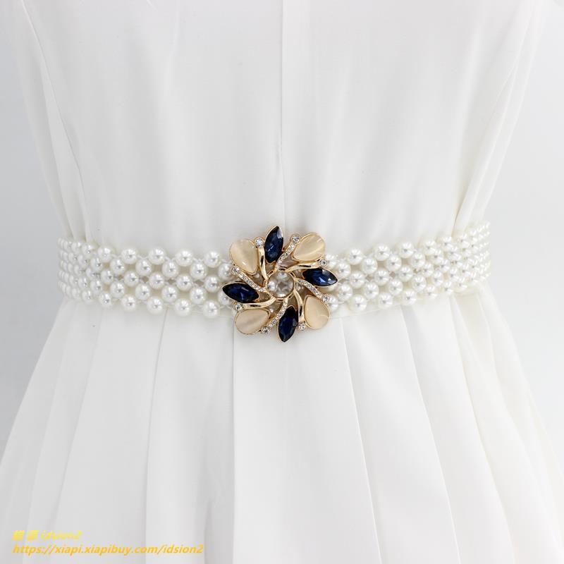 Chân Váy Đính Ngọc Trai Kiểu Hồng Kông Xinh Xắn Cho Nữ