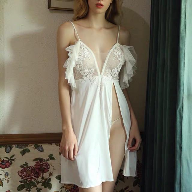 Váy ngủ lụa cao cấp - đầm ngủ sexy gợi cảm - SX309