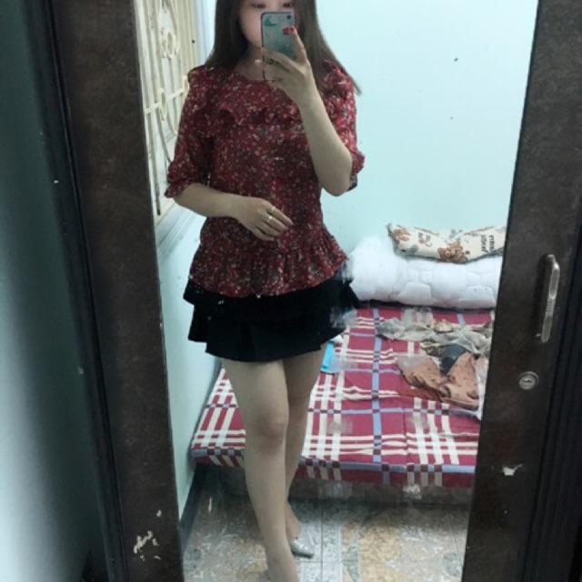 Set áo hoa bèo + chân váy