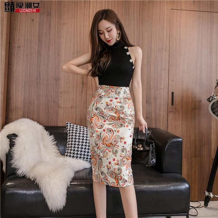 Chân Váy Lưng Cao Vải Mỏng In Họa Tiết Thời Trang Mùa Hè Cho Nữ
