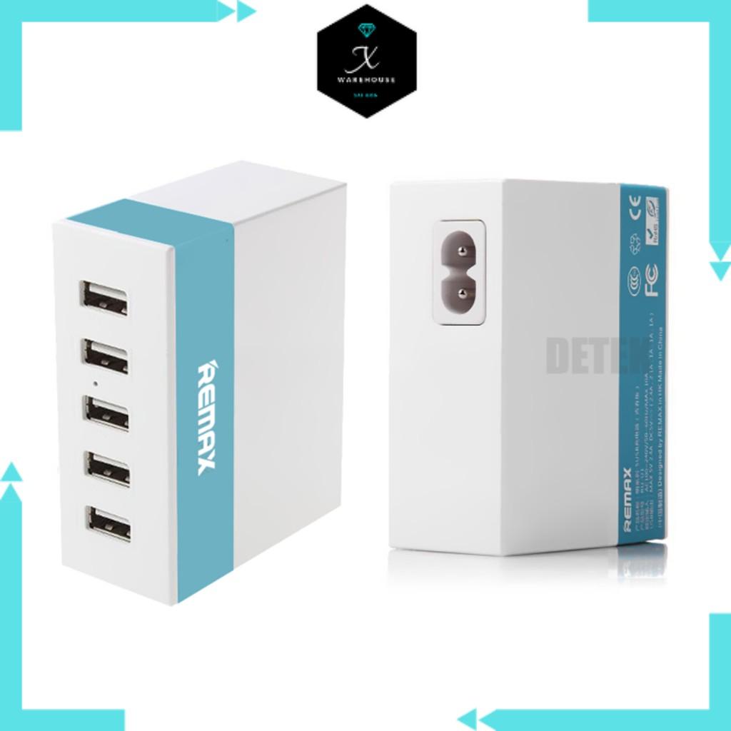 CÓC SẠC ổ điện 5 cổng USB REMAX chính hãng