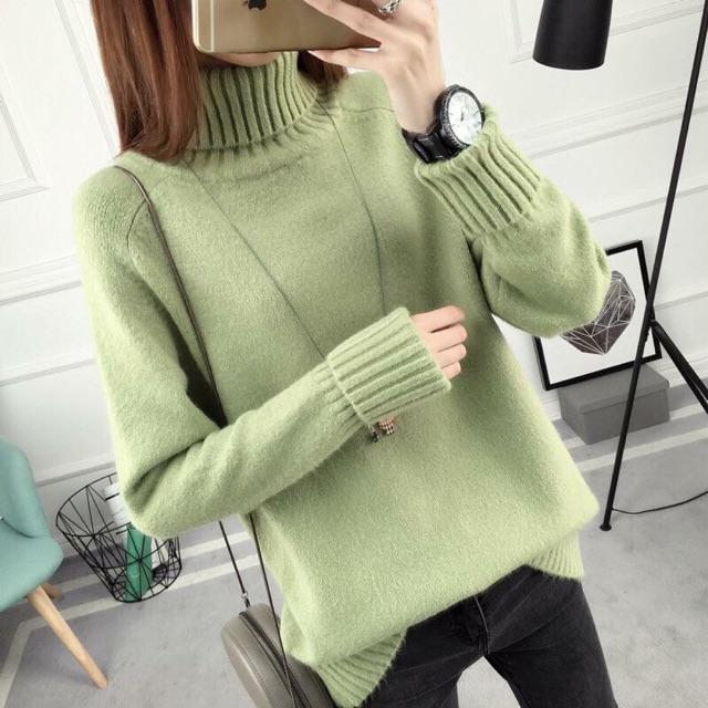 Áo len cao cổ
