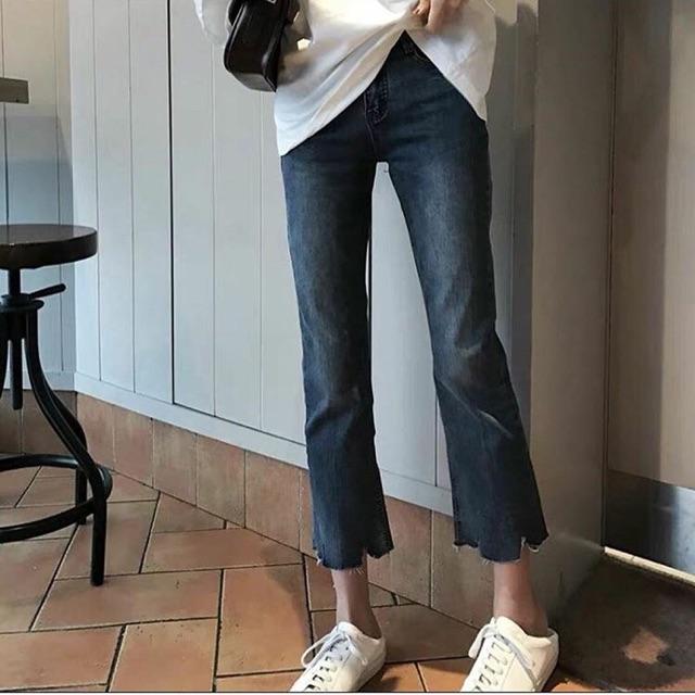 Quần jeans ống tua rua(chọn size ib)