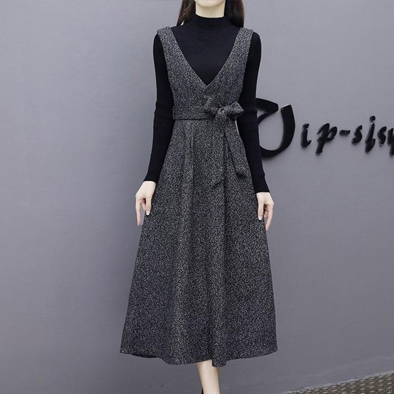 Set chân váy và áo tay dài thời trang quyến rũ cho nữ