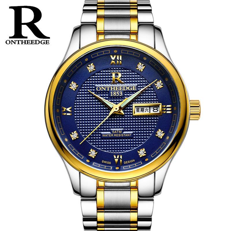 Đồng hồ nam chính hiệu Ontheedge 025 dây đúc đặc không gỉ chính hãng