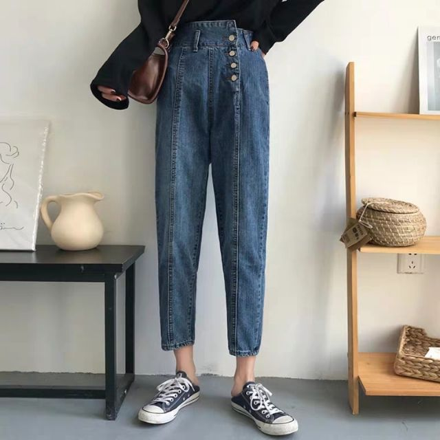 Quần jeans baggy cao lưng