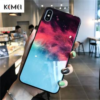 Iphonex phone case glass cove creative models cold mirror simple ins wind network red