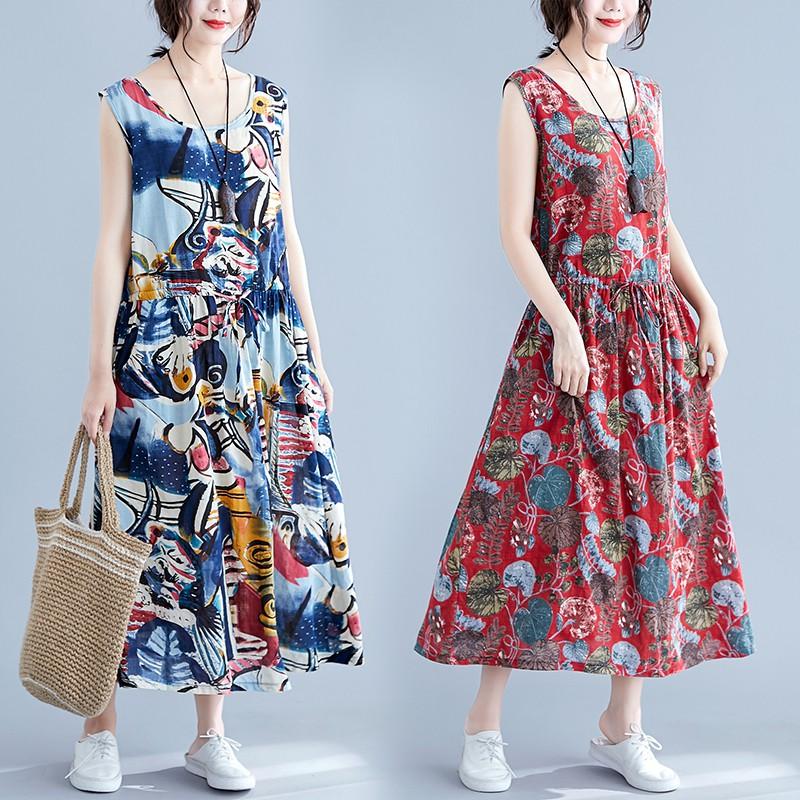 Chân Váy Mỏng In Họa Tiết Kiểu Châu Âu Thời Trang Mùa Hè Cho Nữ