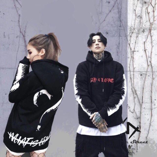 áo khoác hoodie nam nữ mặc