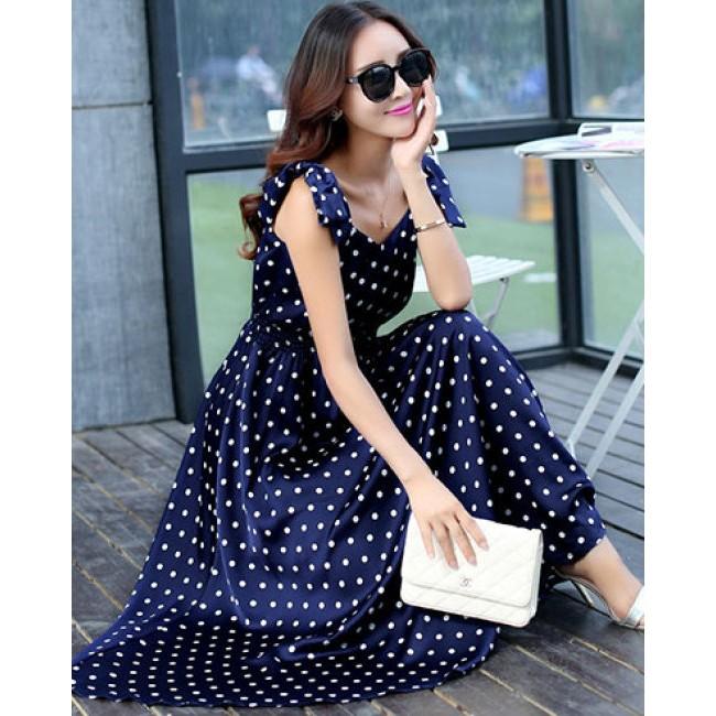 Đầm Bi Dây Nơ Vintage