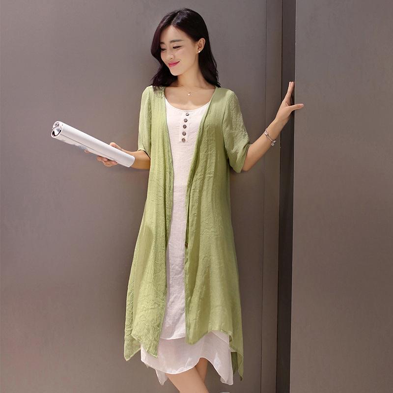 Bộ Áo Thun Cotton + Chân Váy Phong Cách Retro 2017