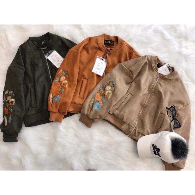 áo khoác da lộn