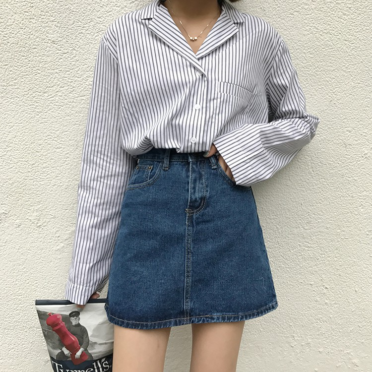 Chân Váy Jeans Trơn Basic (CV07)