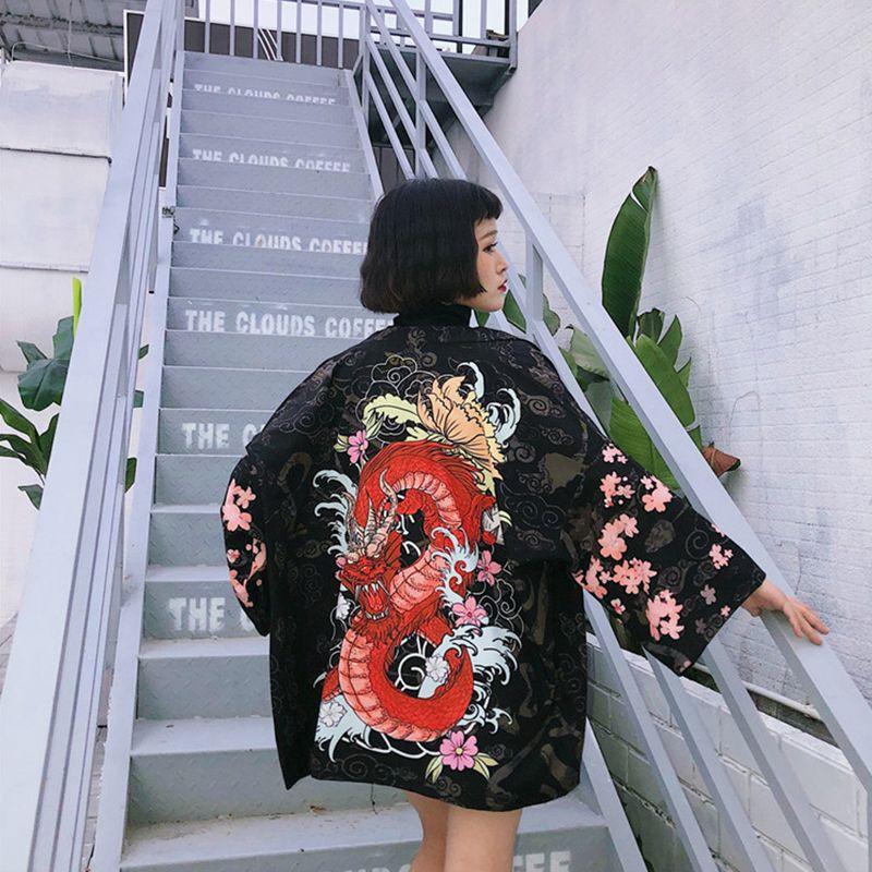 Áo khoác chống nắng phong cách Kimono Nhật Bản dễ thương cho nữ