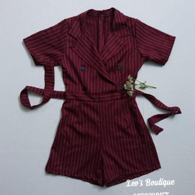 Jum đùi cổ vest 3 màu (đỏ đô, nâu, hồng phấn)
