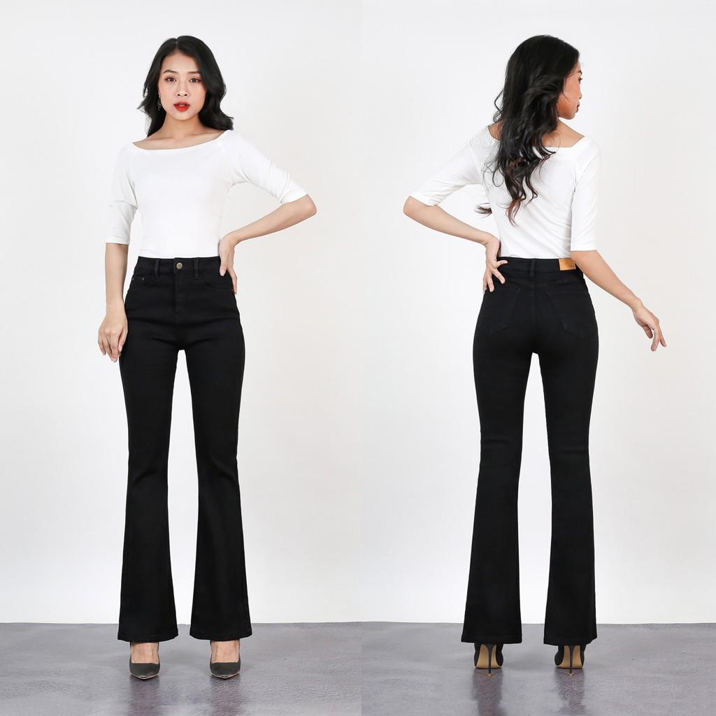 Quần Jeans Đen Ống Loe LO123 LO124
