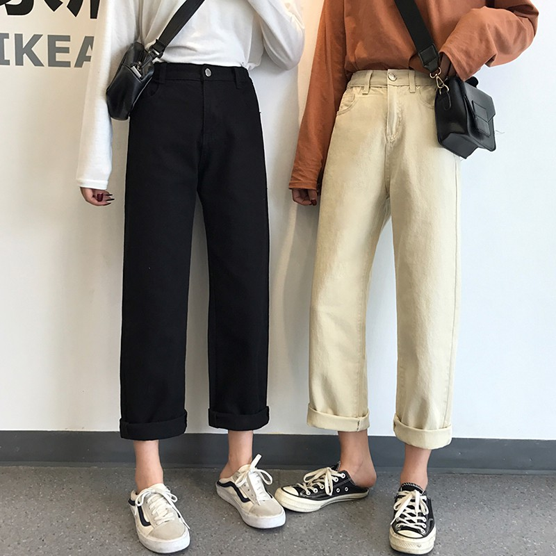 Quần jeans ông suông <order>
