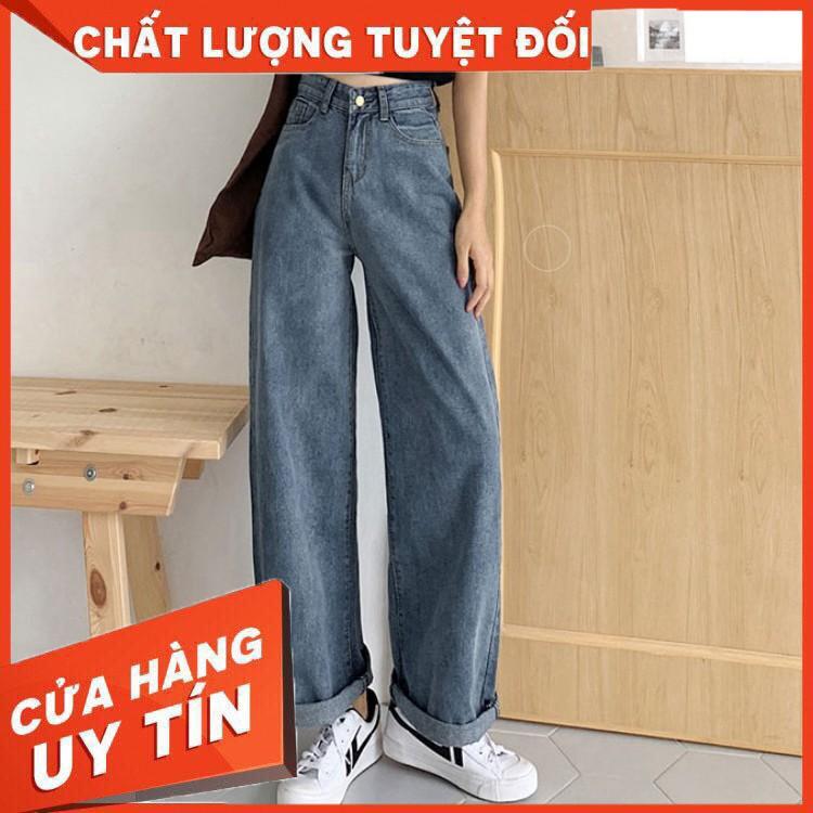 Quần jeans nữ ống rộng Ulzzang Quảng Châu QD18 - Hàng nhập khẩu