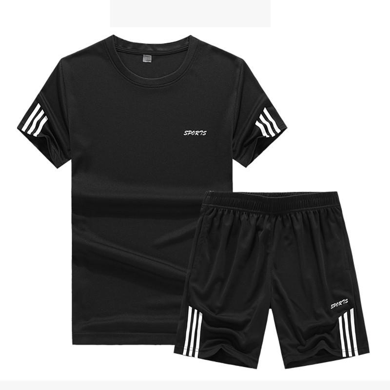 set áo thun tay ngắn & quần short thể thao nữ