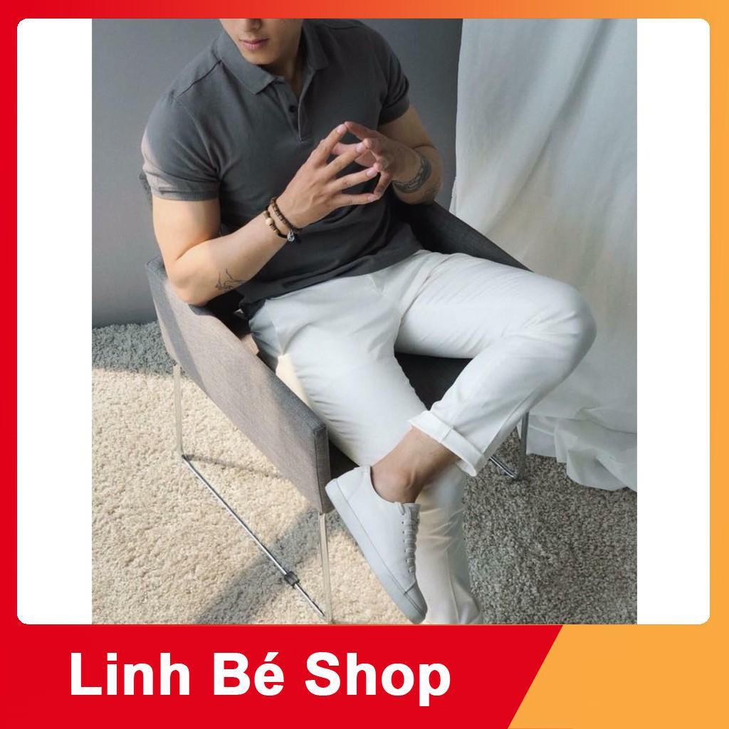 [Linh bé Store] Áo phông nam, áo thun nam cổ bẻ chất cotton cao cấp SM4156
