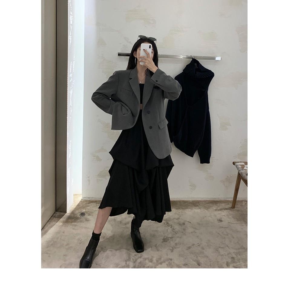 Pick Shop - Ảnh thật - Chân váy phong cách yamamoto V017 - Hàng đặt HĐ