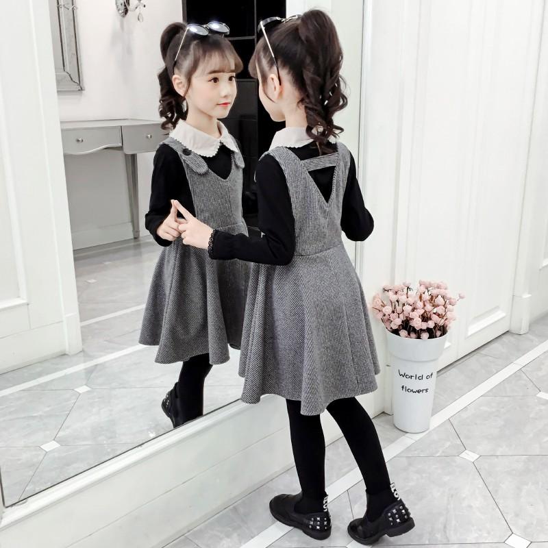 Bộ Áo Thun + Chân Váy Thời Trang Mùa Xuân 2020 Cho Bé Gái