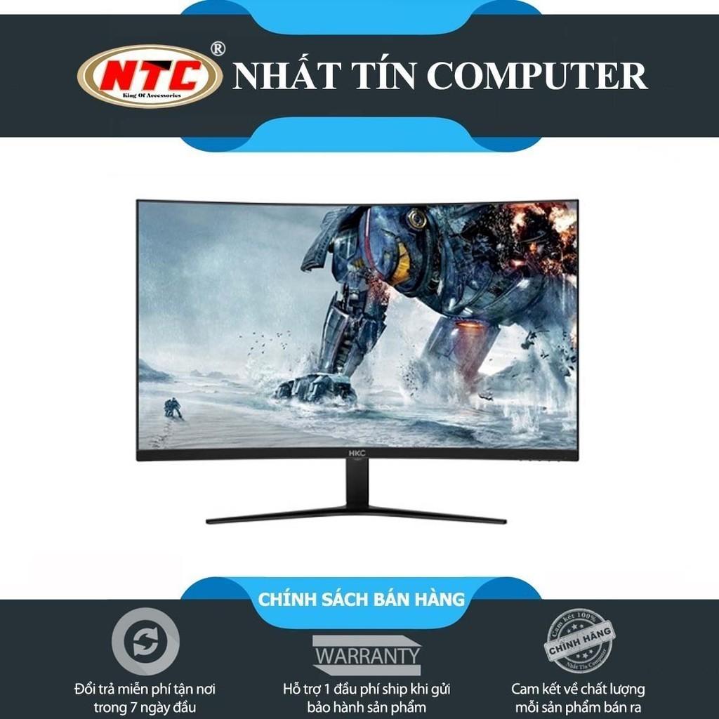 """[Mã ELCL1010 giảm 7% đơn 700k] Màn hình máy tính HKC M24A9X 23.6"""" FHD màn cong Full viền - kết nối cổng VGA/HDMI (Đen)"""
