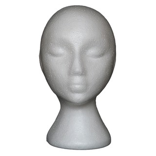Abstract Foam Mannequin Head Manikin Head Model Wig Hair Glasses Display Stand W15
