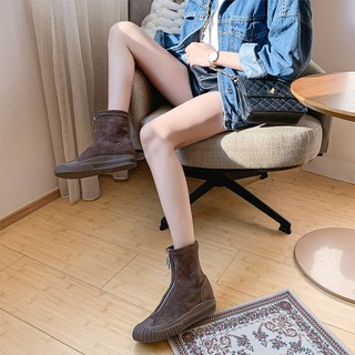 Europe and the United States street snap joker Martin boots women fall 2019 new stretch hose tube short in autumn win
