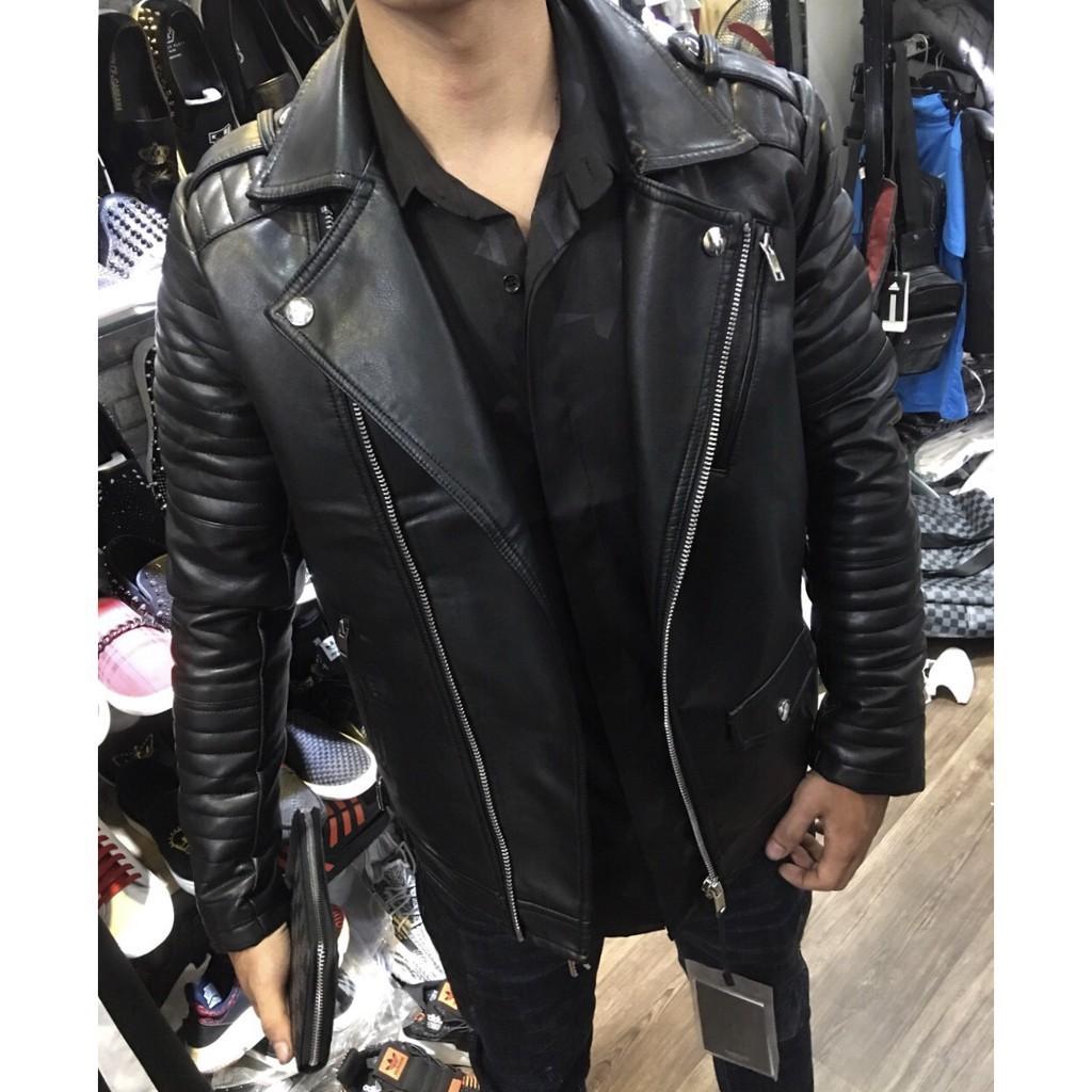Siêu phẩm áo khoác da thời trang siêu cấp Hankuliu Homme_SCH