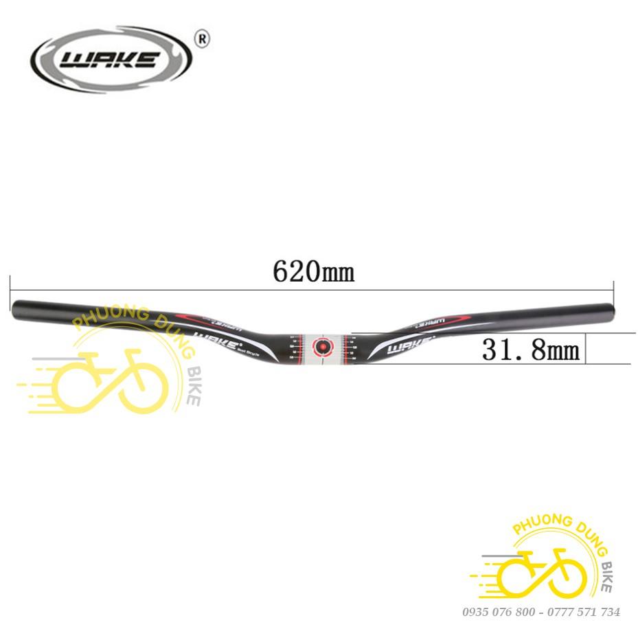 Ghi đông nhôm xe đạp WAKE 31.8mm x 620mm
