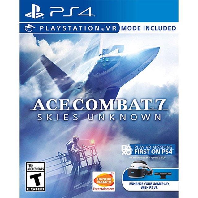 Đĩa game: Ace Combat 7 Skies Unknown / Ps4 hệ Asia