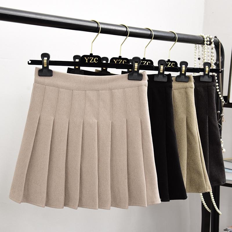 Chân Váy Len Lưng Cao Thời Trang Mùa Đông Cho Nữ