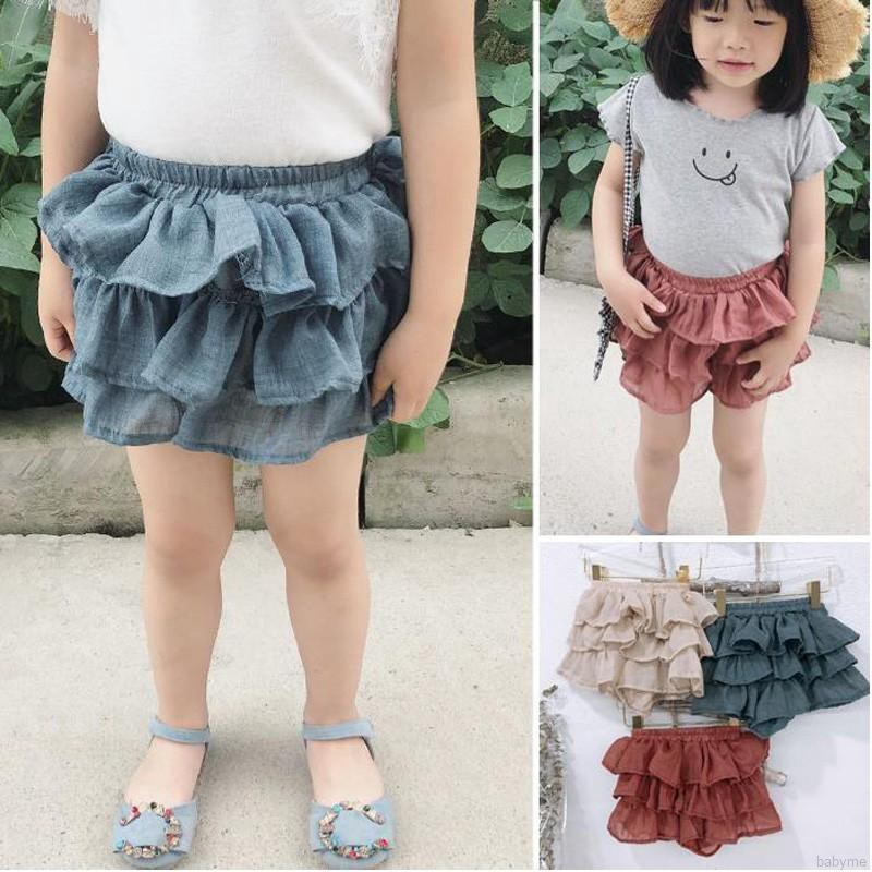 babyme ღ Baby Kids Girls Lovely Mesh Layers Short Skirts