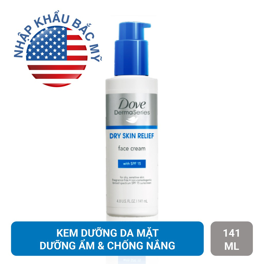 Kem dưỡng da mặt Dove Dermaseries Dry Skin Relief 141ml