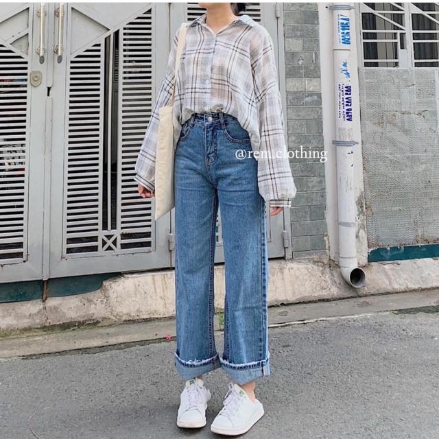 Quần jean suông rộng 02